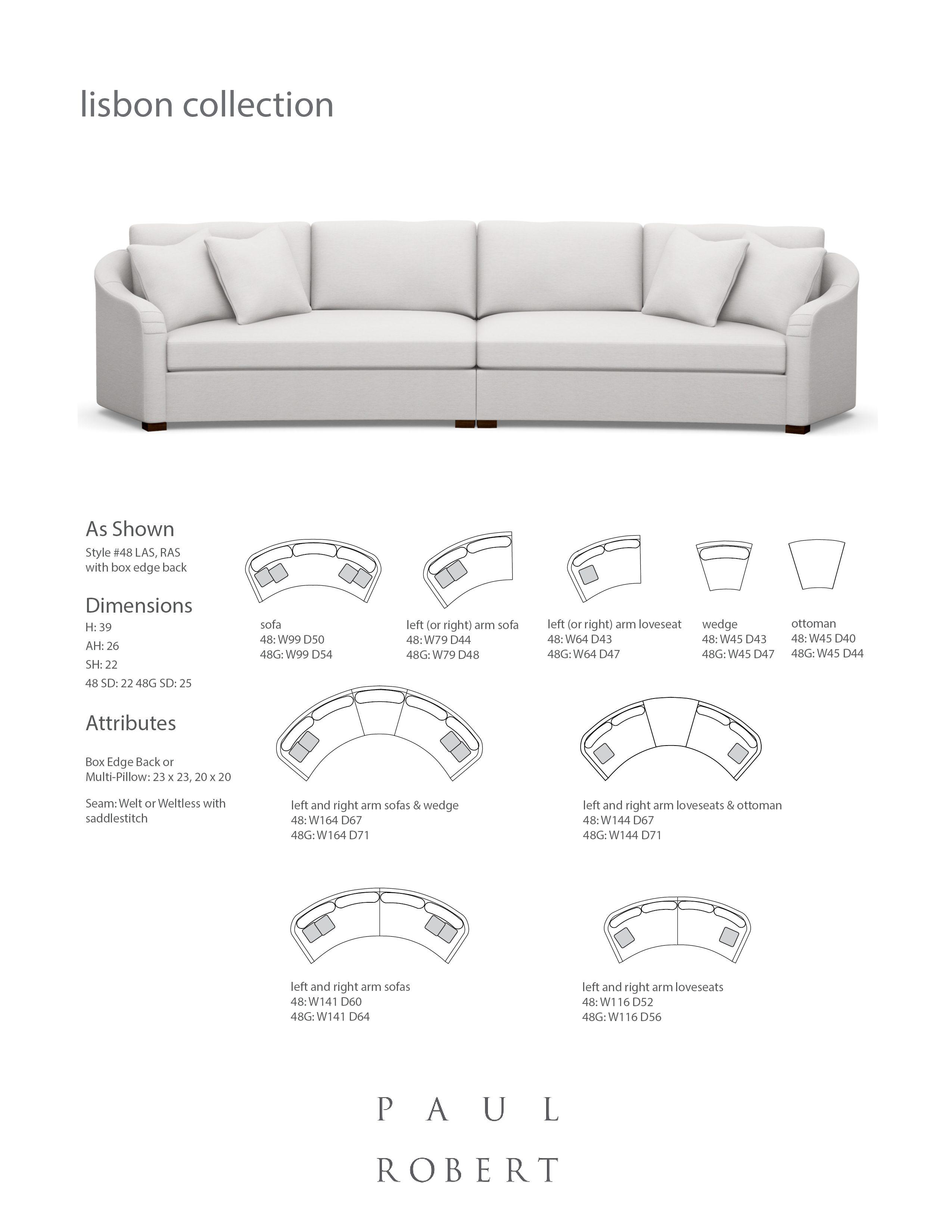 Brilliant 48 Lisbon Sofa Sectional Sofa Paul Robert Furniture Beatyapartments Chair Design Images Beatyapartmentscom