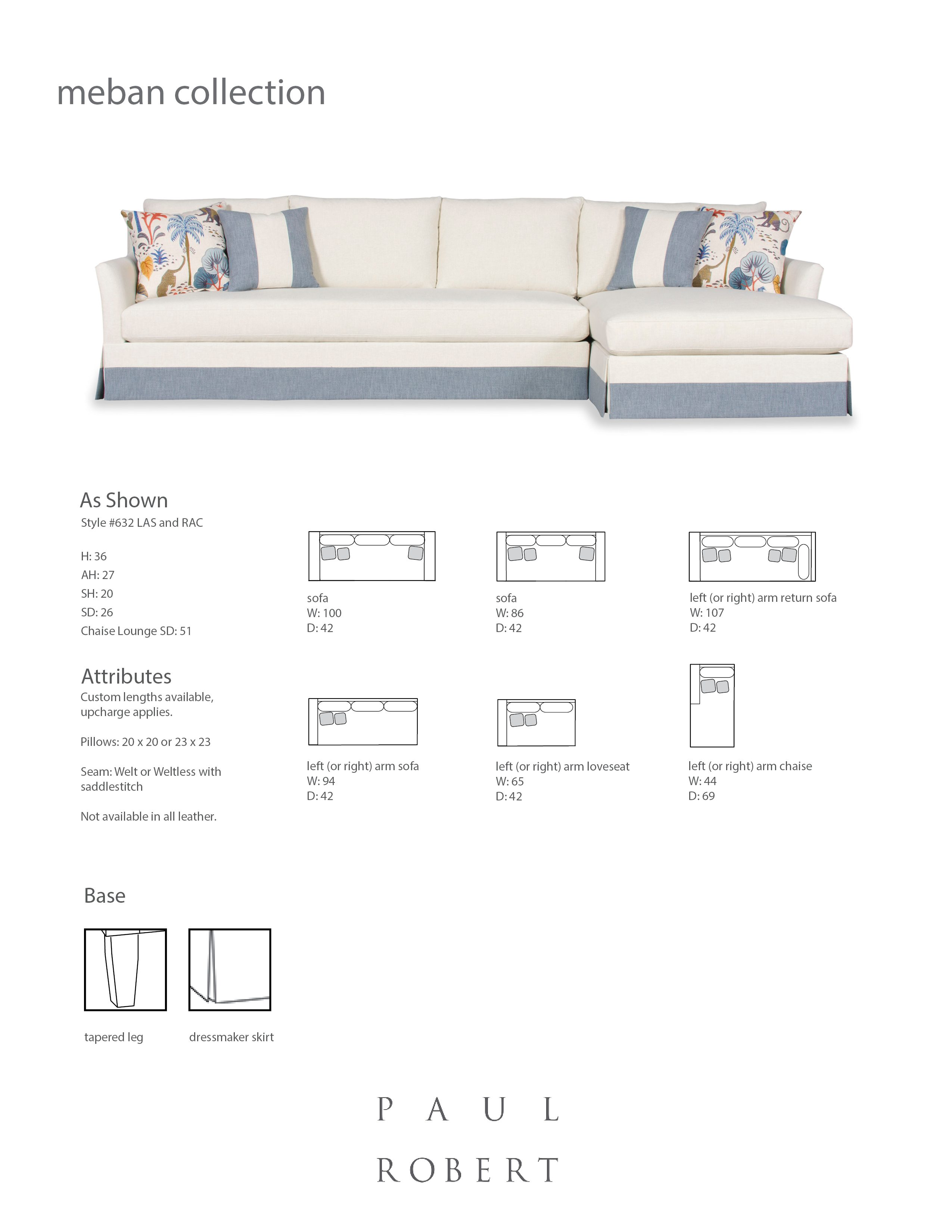 632 MEBAN SECTIONAL